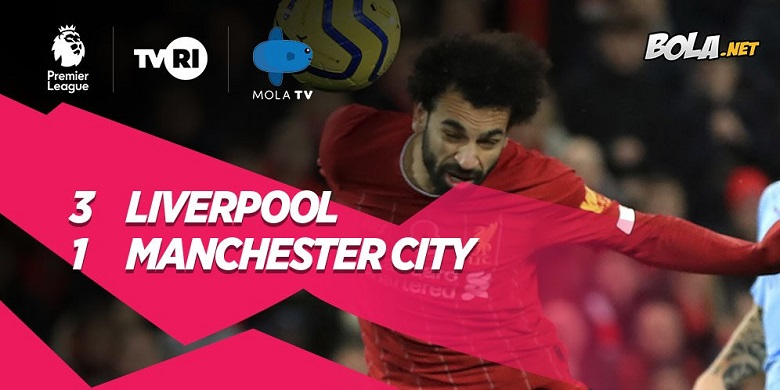 Photo of Pertandingan Liverpool vs Manchester City 3-1