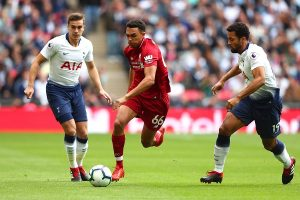 Pertandingan berlangsung sengit antara Liverpool dan Spurs
