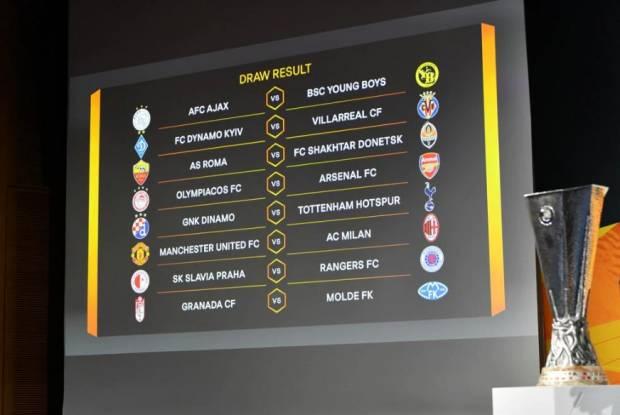 Hasil Undian Babak 16 Besar Europa League, MU Ketemu Milan 1