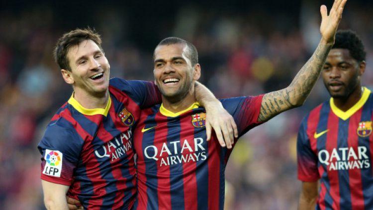Dani Alves Bongkar Borok Barcelona dan Sebut Lionel Messi Terbaik Dunia 1