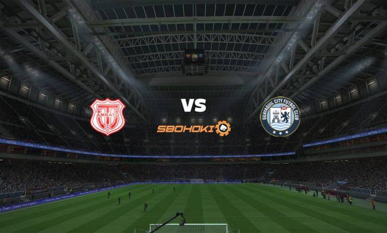 Live Streaming  Técnico Universitario vs Guayaquil City FC 4 April 2021 1