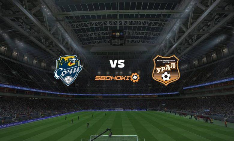 Live Streaming  Sochi vs FC Ural Ekaterinburg 9 Agustus 2021 1