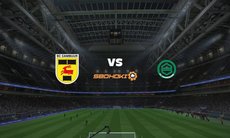 Live Streaming  SC Cambuur vs FC Groningen 15 Agustus 2021 1