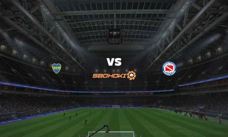 Live Streaming  Boca Juniors vs Argentinos Juniors 8 Agustus 2021 1